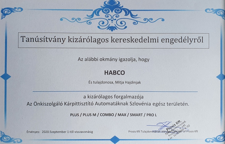 HABCO became official PROSIS dealer for Slovenia